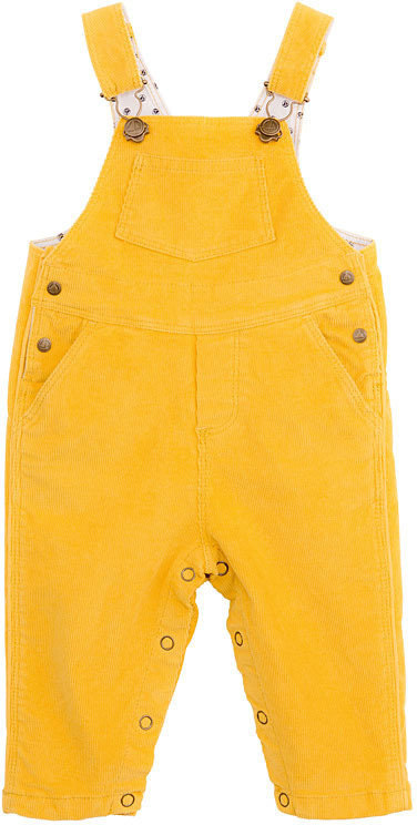 Petit Bateau Baby Boy Ribbed Stretch Velour Overalls