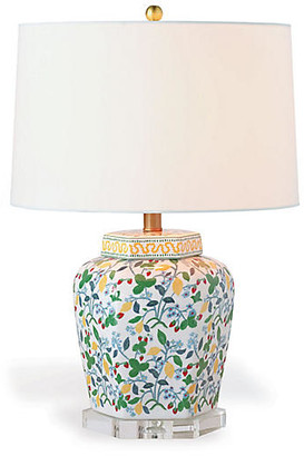 Madcap Cottage By Port 68 Crewel Summer Table Lamp - White