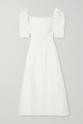 ANNA QUAN - Aura Linen-blend Midi Dress - Ivory