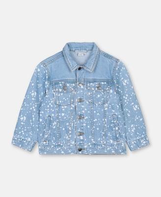 Stella Mccartney Kids Stella McCartney oversize splash denim jacket