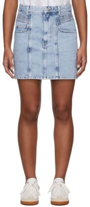 Etoile Isabel Marant Blue Denim Honda Miniskirt
