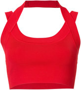 Alexander Wang rib trim crop top - women - Nylon/Spandex/Elastane/Viscose - S
