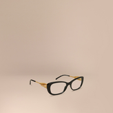Burberry Gabardine Collection Oval Optical Frames