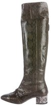 No.21 No. 21 Snakeskin Knee-High Boots w/ Tags