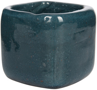 Luxe - Bubbled Glass Tealight Holder - Indigo Blue