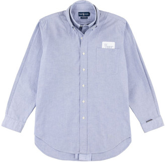 1/Off Paris Ralph Lauren blue layered cotton shirt