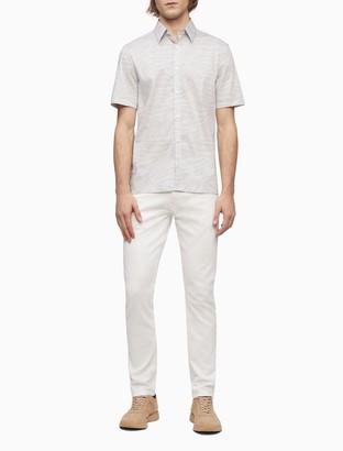 Palm Print Button-Down Short Sleeve Shirt