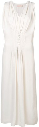 Marni Button Front Drawstring Dress