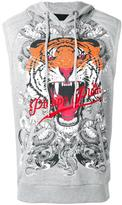 Philipp Plein Plein Tiger sleeveless hoodie - men - Cotton - L