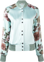 La Perla Maps in Bloom bomber jacket