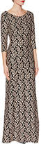 Gina Bacconi Polly Floral Jacquard Maxi Dress, Black/Peach