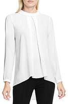 Vince Camuto Mock Neck Georgette Long Sleeve Blouse