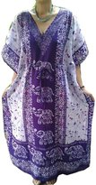 indiancraftart African Traditional long Caftan Wrap Bohemian Polyester Color Women