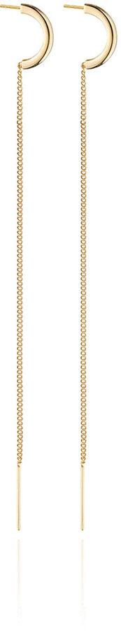 Vita Fede Luna Chain Thread Drop Earrings
