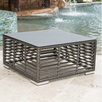Panama Jack Graphite Glass Coffee Table Outdoor