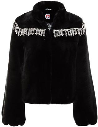 Shrimps Dexter Crystal-embellished Faux Fur Jacket