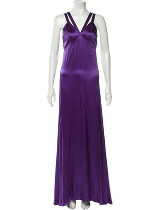 Just Cavalli Silk Long Dress w/ Tags Purple