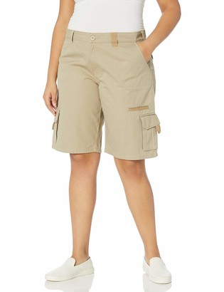Dickies Women's Plus Size 11-Inch Relaxed Cargo Short