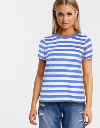Polo Ralph Lauren classic logo stripe tee in blue