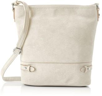 Tom Tailor Acc Jamie Womens Cross-Body Bag Grey (Stone) 9.5x29x32 cm (B x H x T)