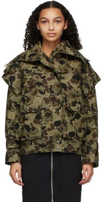 Kenzo Khaki Camo Rose Jacket