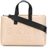 Donna Karan logo shopper tote