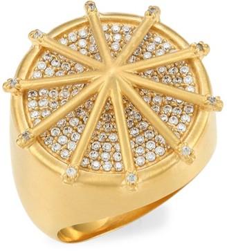 Dean Davidson Maiko 22K Goldplated & Cubic Zirconia Umbrella Ring