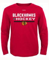 Reebok Kids' Chicago Blackhawks Authentic Freeze Long-Sleeve T-Shirt