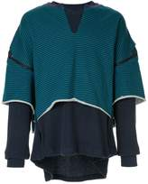 Facetasm layered zipped jumper