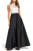 Adrianna Papell Women's Beaded Taffeta Gown