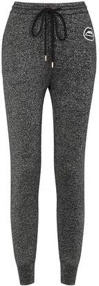 Markus Lupfer Embellished Metallic-knit Sweatpants