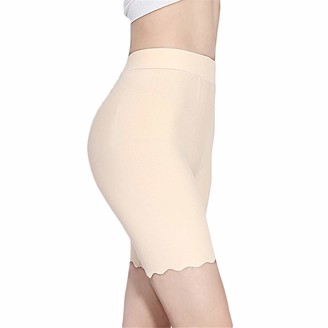 TRISTIN Womens Slip Shorts Comfortable Short Anti Chafing Ultra Soft Seamless Long Briefs for Under Dresses Leggings and Yoga Gray