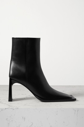 Balenciaga Leather Ankle Boots - Black