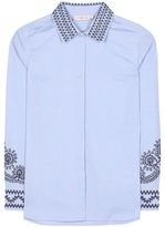Tory Burch Keegan Embroidered Cotton Shirt