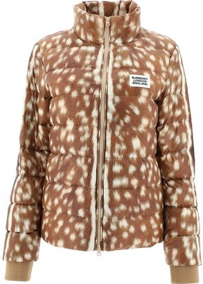 Burberry Deer Print Padded Jacket