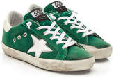 Golden Goose Deluxe Brand Super Star Sneakers with Cotton and Leather