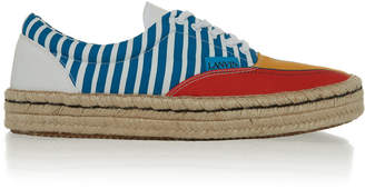 Lanvin Paneled Cotton-Canvas Espadrille Sneakers