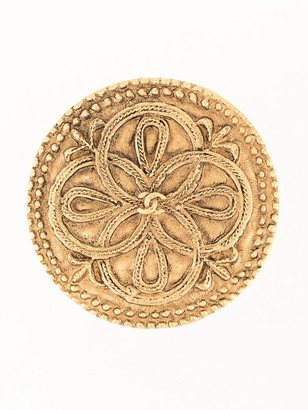 Chanel Pre Owned CC medallion brooch