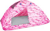 Pacific Play Tents H.Q. Camo Twin Bed Tent in Pink