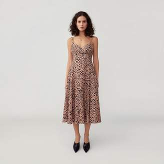 Side Button Flared Dress