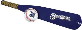 Rawlings Sports Accessories Milwaukee Brewers Foam Bat & Baseball Set