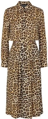 Boutique Moschino Leopard-print Midi Dress