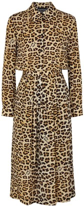 Boutique Moschino Leopard-print midi dress