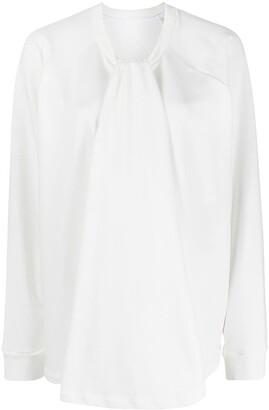 MM6 MAISON MARGIELA Twist-Neck Sweatshirt