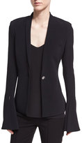 Cushnie et Ochs Fitted Stretch-Crepe Blazer