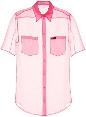 Miu Miu Silk organza shirt