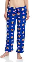 Paul Frank Classic Julius Blue Plush Lounge Pants for women