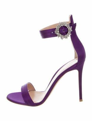 Gianvito Rossi Crystal Embellishments Sandals Purple