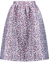 Markus Lupfer Zoe Metallic Matelassé Midi Skirt