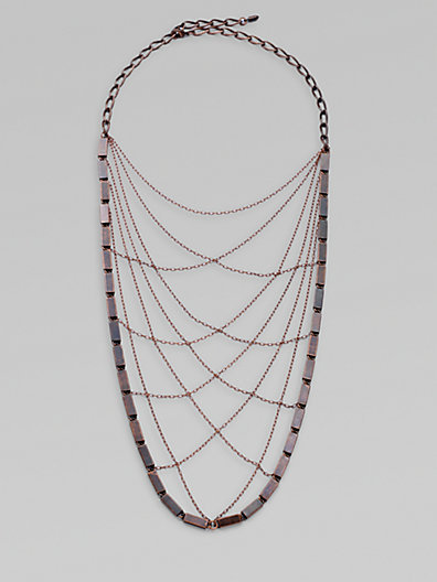 Bliss Lau Noir Antiqued Copper Bib Necklace